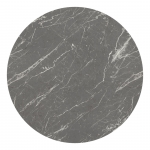 HPL Round Black Marble