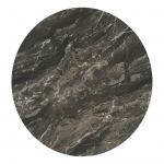 HPL Round Brown Marble