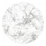 HPL Round White Marble