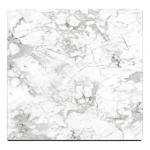 HPL Square White Marble