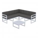 Mykonos Lounge Corner Set Silver Gray - Siesta
