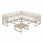 Mykonos Lounge Corner Set Dove Grey - Siesta