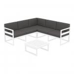 Mykonos Lounge Corner Set White - Siesta