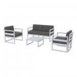 Mykonos Lounge Set Silver Gray - Siesta