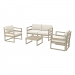 Mykonos Lounge Set Dove Grey - Siesta