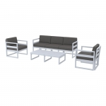 Mykonos Lounge Set XL Silver Gray - Siesta